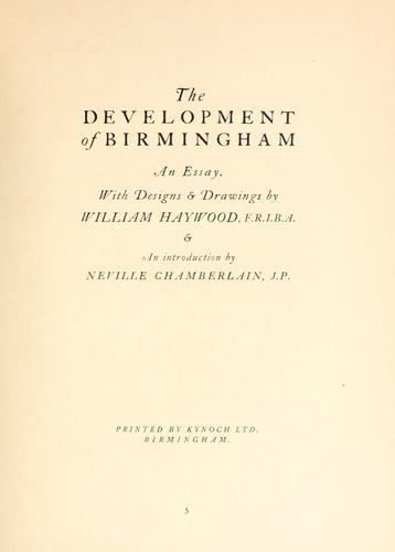 Download The development of Birmingham