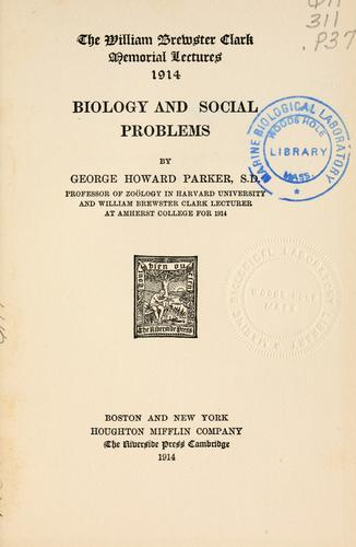 Download Biology and social problems