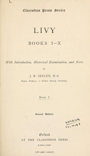 Livy, Books 1-10