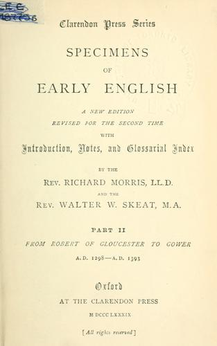 Specimens of early English.