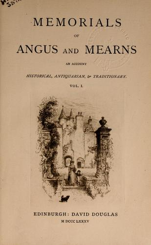 Memorials of Angus and Mearns
