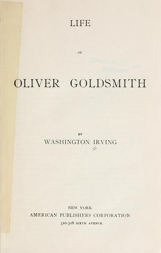 Life of Oliver Goldsmith