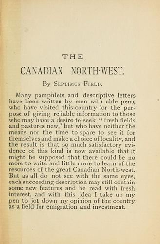 The Canadian North-west.