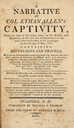 Download A narrative of Col. Ethan Allen's captivity