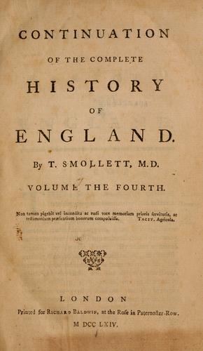 Continuation of the complete history of England