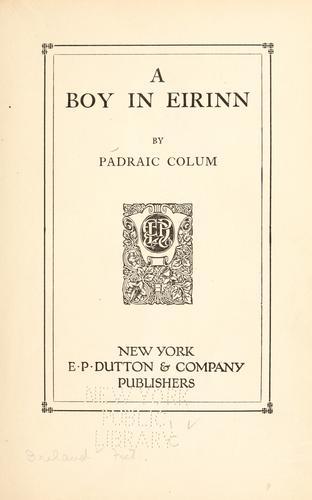 A boy in Eirinn