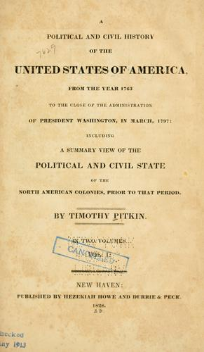 Download A political and civil history of the United States of America