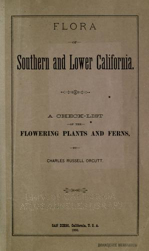 Download Flora of southern and Lower California.