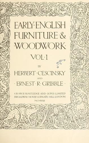 Download Early English furniture & woodwork