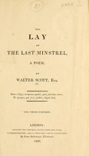 Download The lay of the last minstrel, a poem.