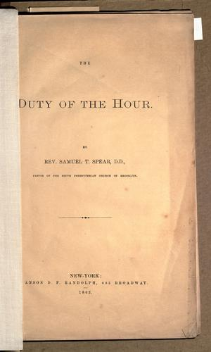 Download The duty of the hour