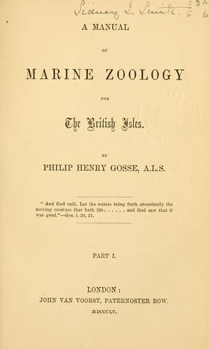 Download A manual of marine zoology for the British Isles.