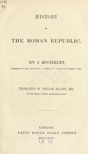 Download History of the Roman Republic