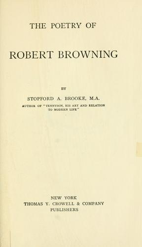 Download The poetry of Robert Browning.