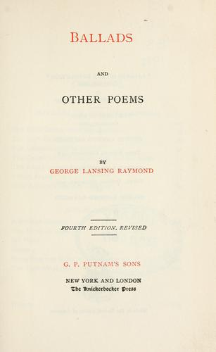 Download Ballads, and other poems.