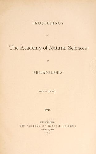 Download Proceedings of the Academy of Natural Sciences of Philadelphia, Volume 68