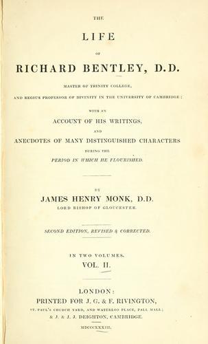 Download The life of Richard Bentley