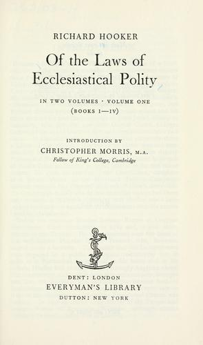 Download Of the laws of ecclesiastical polity.