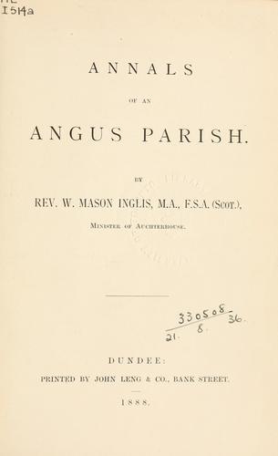 Annals of an Angus parish.  Auchterhouse