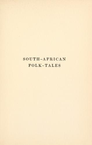 Download South-African folk-tales.