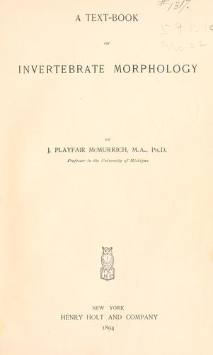 A text-book of invertebrate morphology.