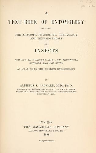 Download A text-book of entomology