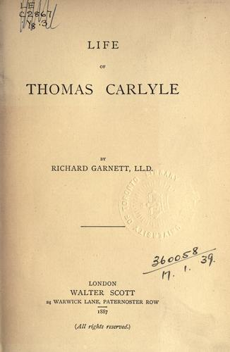 Download Life of Thomas Carlyle.