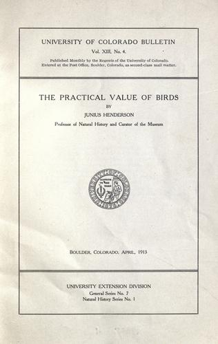 The practical value of birds