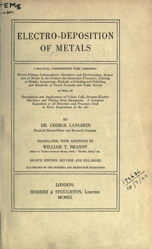 Download Electro-deposition of metals