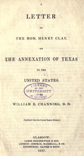 Download A letter to the Hon. Henry Clay