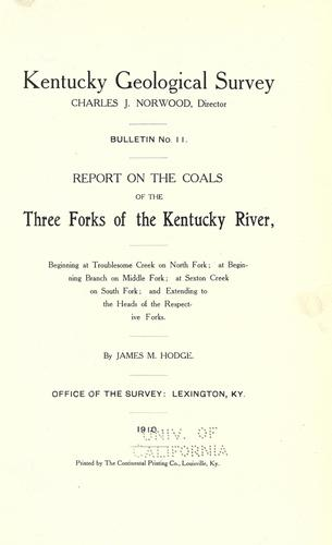 Download Report on the coals of the three forks of the Kentucky River
