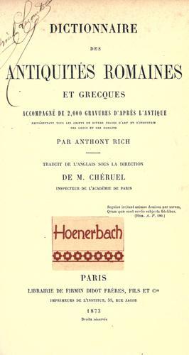 Download Dictionnaire des antiquit©Øes romaines et grecques