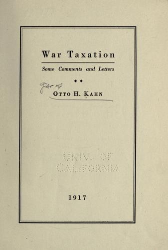 War taxation