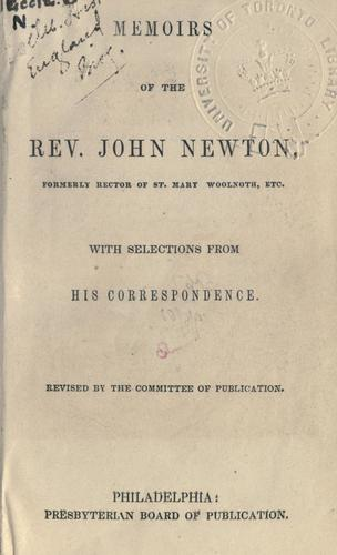 Memoirs of the Rev. John Newton by