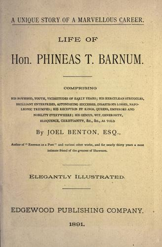 Life of Hon. Phineas T. Barnum.