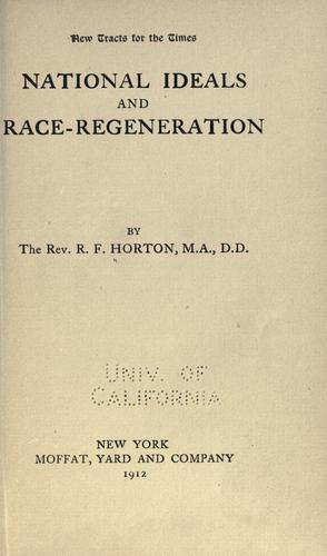 National ideals and race-regeneration