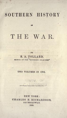 Download Southern history of the war.