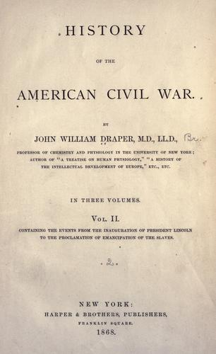 Download History of the American Civil War