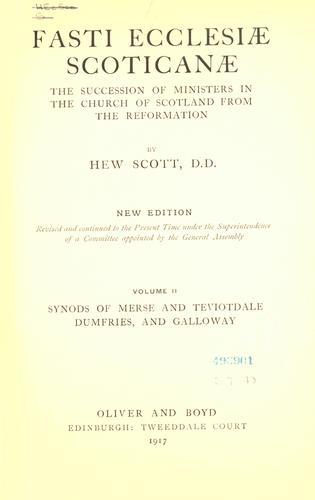 Download Fasti ecclesiæ scoticanæ