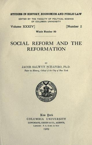Download Social reform and the reformation