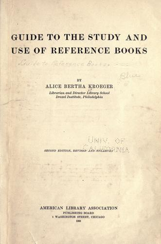 Guide to the study and use of reference books.