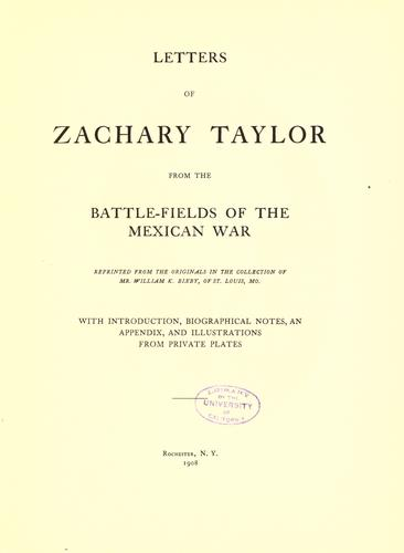 Download Letters of Zachary Taylor