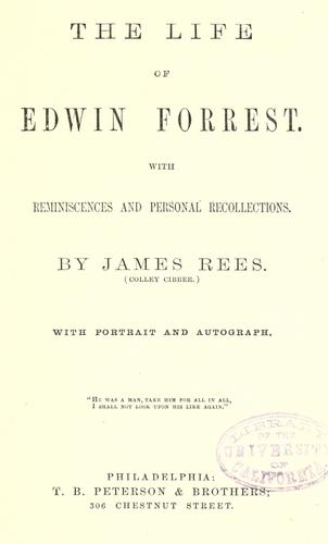 Download The life of Edwin Forrest