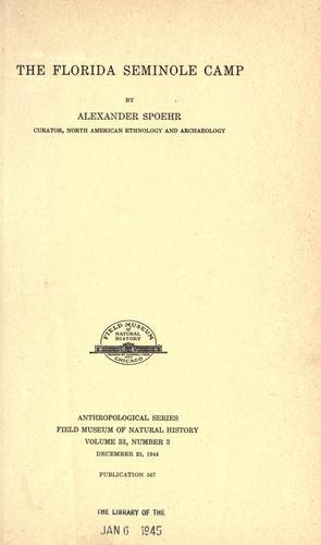 Download The Florida Seminole camp