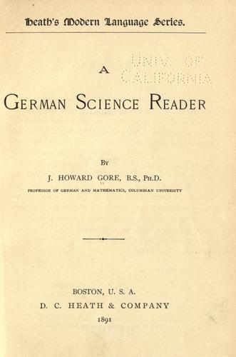 A German science reader