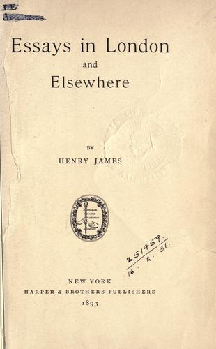 Essays in London and elsewhere.
