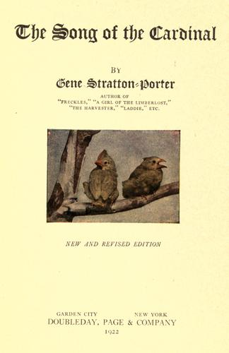 The Song of the Cardinal by Gene Stratton-Porter