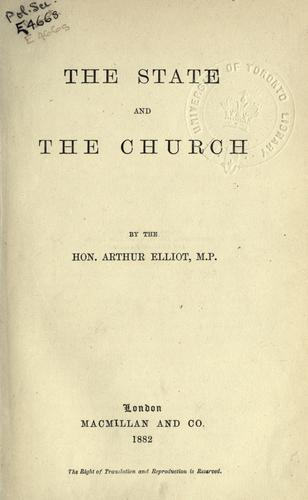 The state and the church.