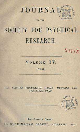 Download Journal of the Society for Psychical Research.