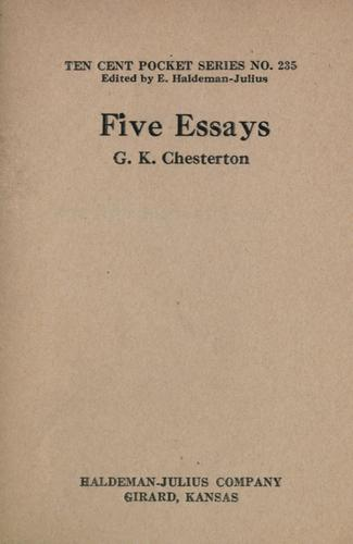 Download Five essays.